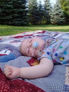 Baby Laine relaxing in the glorious summer of 2015